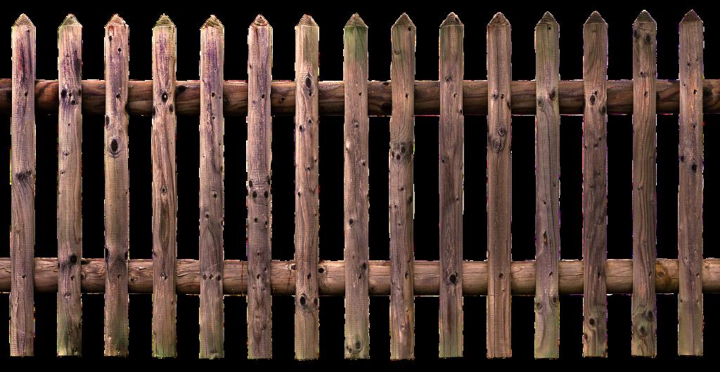 Typische Palisadenstruktur: angespitzte Köpfe und halbrunde oder runde Latten